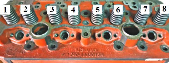 Зазоры клапанов на двигателе д240