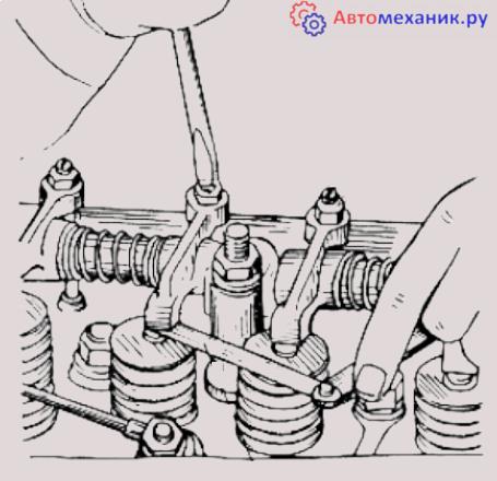 Регулировка клапанов  мтз 1221