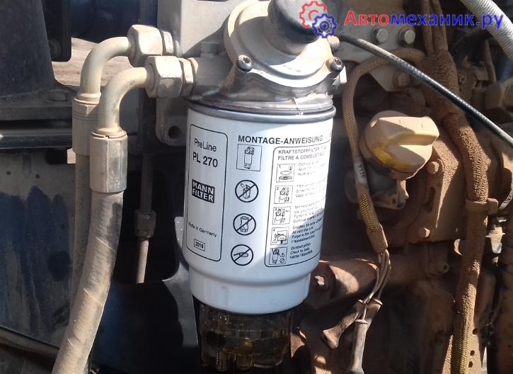 замена фильтра грубой очистки топлива