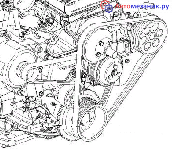 Замена ремня генератора на УАЗ 3909 буханка
